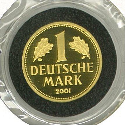 Guldmynt Tyskland 2001