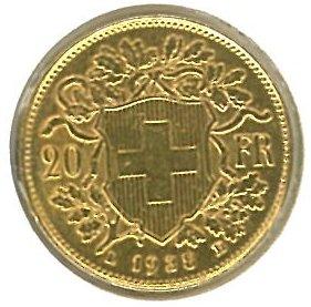 Guldmynt Schweiz