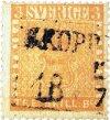Det världsberömda svenska frimärket 3 skilling banco gul