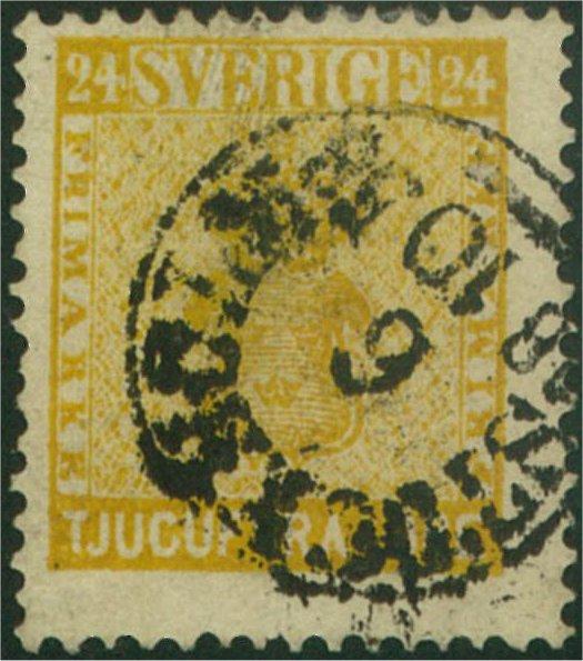nyansering av svenska frimärken