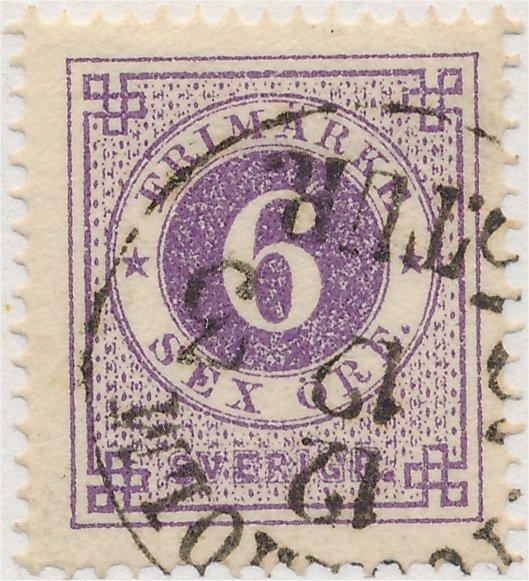 svenska frimärken i olika nyanser