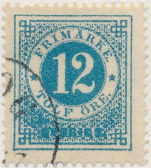 nyanser på svenska frimärken 12 öre ringtyp tandning 14