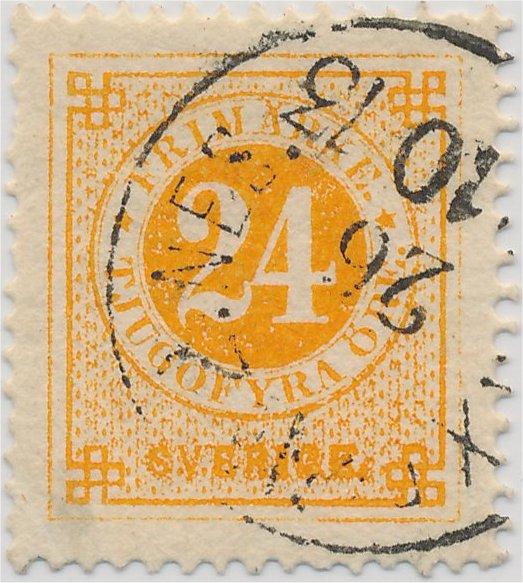 svenska frimärken ringtyp i olika nyanser