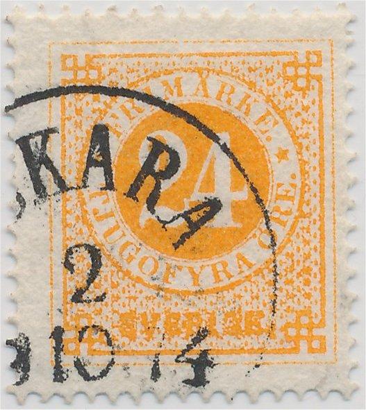 frimärken svenska ringtyp tandning 14