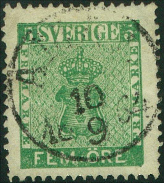 svenska frimärken vapentyp 5 öre