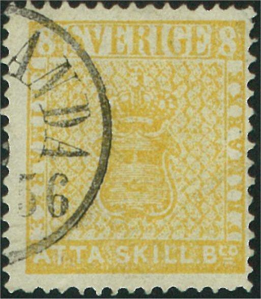 frimärke 8 skilling