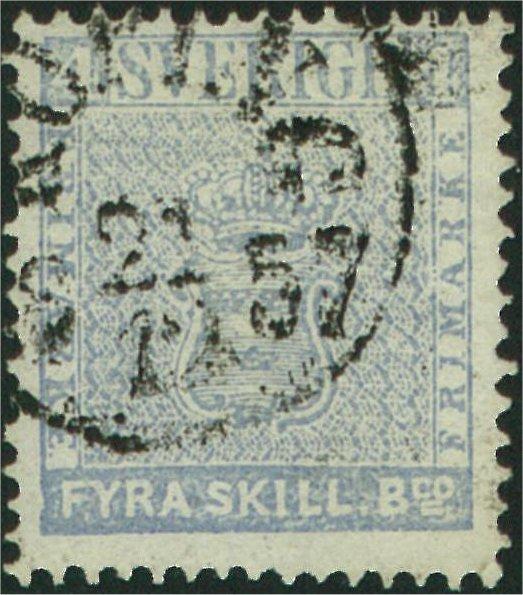 frimärke 4 skilling