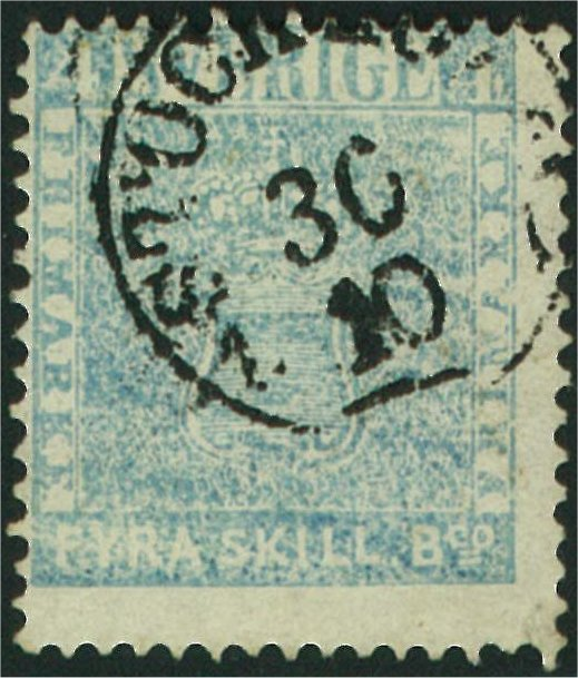 frimärke 4 skilling leverans 11f