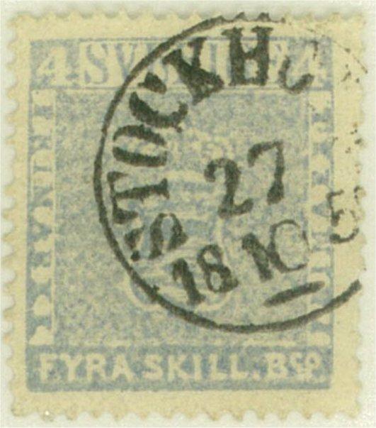 frimärke 4 skilling leverans 11d2