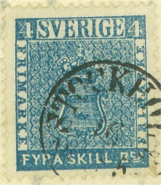 frimärke 4 skilling leverans 6a