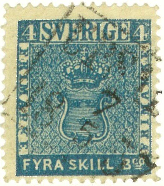 frimärke 4 skilling leverans 7b