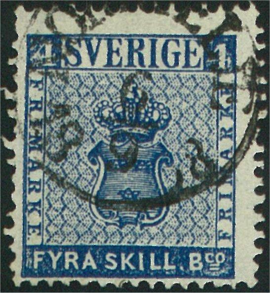 frimärke 4 skilling leverans 13c