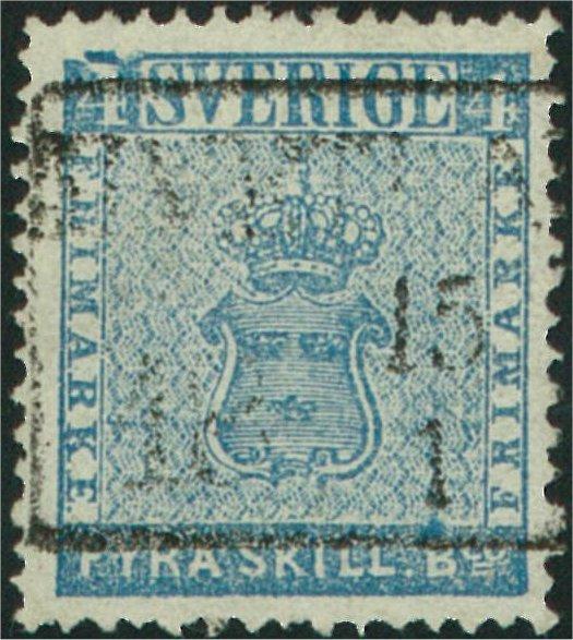 frimärke 4 skilling med variant