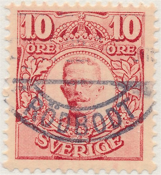 10 öre Medaljong svenskt frimärke