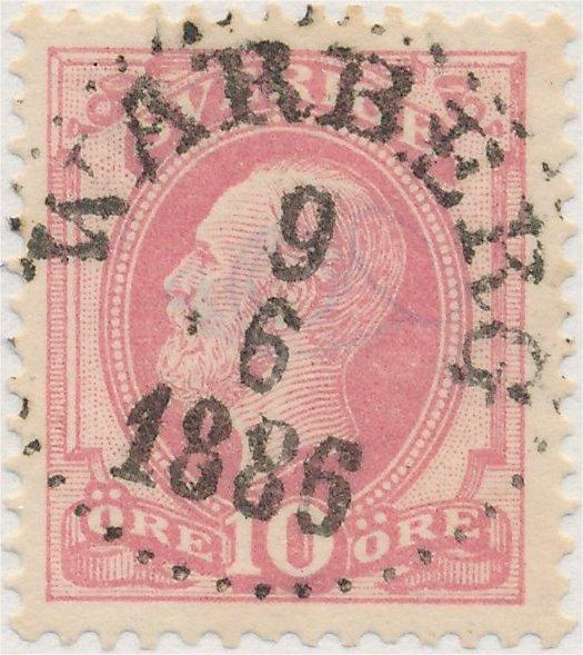 Svenskt frimärke Facit-Nr 45b